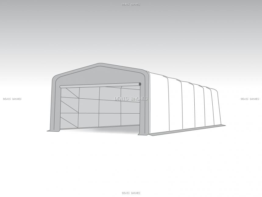Wikinger tente de stockage Vario 6x12m PVC 720g/m² hauteur 2,60m